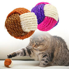 2pcs Interactive Cat Sisal Ball Toys Squeaking Scratch Claw Toy for Pet Kitten