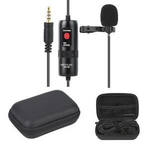 Profi Ansteckmikrofon Lavalier Mikrofon für Smartphone und DSLR-Kamera Tragbar