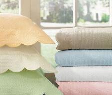 Sferra ALICE King Bed Skirt Mushroom Tailored Egyptian Cotton Scalloped Edge New