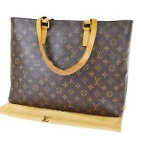 Auth LOUIS VUITTON Luco Tote Shoulder Bag Monogram Leather Brown M51155 85JC323