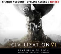 Civilization 6 VI PC Platinum Edition +BONUS GAME Steam OFFLINE-READ DESCRIPTION