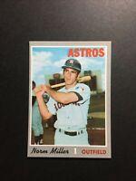 1970 Topps Set Break Norm Miller Houston Astros #619 - NM/MT From Vending