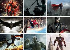 Marvel Dc Super Heroes Batman Ironman Hulk arte cartel impresión Compre 1 lleve 2 Gratis