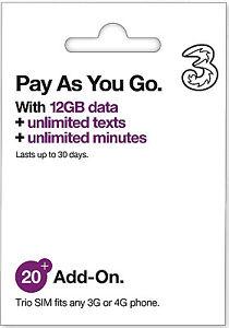 UK & Europe 12GB SIM Card *30Days* Roam the World