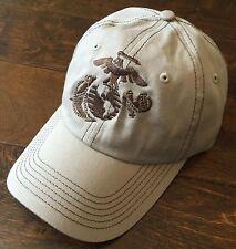 USMC United States Marine Corps - EGA Eagle Globe & Anchor Hat Khaki