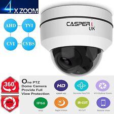 CASPERi CCTV 4in1 PTZ Dome Camera 4x zoom HD 1080P TVI, AHD CVI CVBS 2MP IR 30M