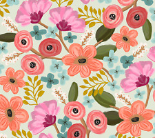 """Gypsy Flowers Gift Wrap Tissue Paper, Multi-Colored. 10 Sheets 20"""" x 30"""""""