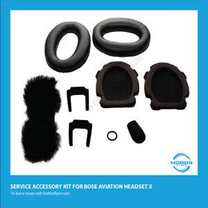 Bose Aviation Headset X Renew Kit - Ear Seals, Mic Muff Windscreen, & Head Pad