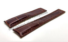 22mm D/Brown Leather Watch Band - Strap Comp. Tag Heuer Carrera CAR2012 CV2A12