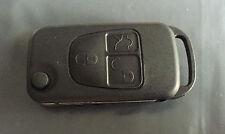 Para Mercedes Clase A C E S 3 botón remoto Flip llave caso Shell & Blade HU39