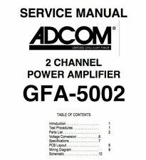 ADCOM GFA-5002, GFA-5300 Schematic Diagram Service Manual Schaltplan Schematique