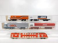 CG402-0,5# 4x Wiking H0/1:87 Scania: 520 ceti/Navis/OOCL + 533 Trees, NEUW+OVP
