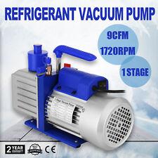 9CFM 1 Stage Refrigerant Vacuum Pump Gas-Analysis Aluminum 220V FACTORY DIRECT