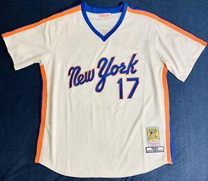 1983 Keith Hernandez New York Mets Cream Jersey Size Men's Large