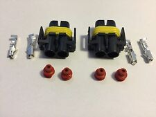 2 x H11 H8  Female connectors connector HID plug socket new