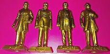 "4 Vintage GOLD Marx US Presidents,11th, 12th, 13th,14th, 2.75"" figures, POLK VGC"