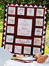 Garden Party Stitchery Beautiful Redwork Designs & Projects Quilt Pattern Book