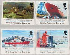 BAT BRITISH ANTARCTIC 1991 189-92 188-91 200th Birthday M Faraday ovp Ships MNH