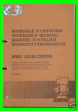 CAGIVA manuale d'officina WMX 125/89 CROSS