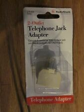 Radio Shack Ivory 2-Outlet Phone Jack Adapter 279-456 with free shipping!