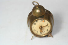 ANTIQUE BRASS & CELLULOID ~~ALARM CLOCK TAPE MEASURE~~FIGURAL