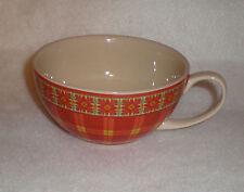 2005 Harry & David Coffee Cup - Plaid Design - Never Used