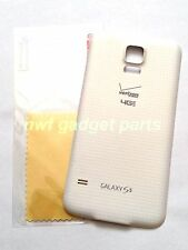 New OEM Samsung Galaxy G900V Battery Door Cover W/ Waterproof  S5 Verizon  WHITE