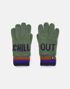 Joules Boys Eastbury Gloves - Green Chill Out