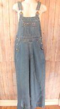 """Vintage blue denim overalls size Medium jeans high waist 30"""" inseam straight leg"""