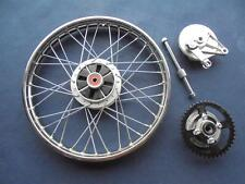 Honda C90 Cub Motorcycle Complete Rear Wheel, spindle, brake drum and cush drive