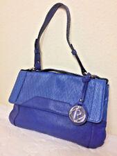 Relic Brand Textured Vegan Handbag Purse Bag Two-Tone Blue Signature Fob