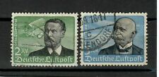 s31236) GERMANY 1934 USED Air Mail 2 high values 2dm + 3dm Zeppelin 2v
