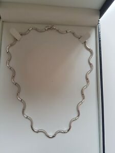 Stunning heavy sterling silver necklace - NEW