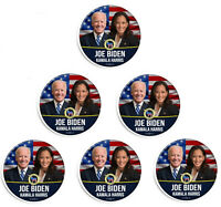 6x Joe Biden Kamala Harris For 46th President American Flag Pinback Button Pin