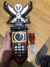 Bandai Japan Gokaiger Mobirates Morpher 2010 & Metallic Red Ranger Key