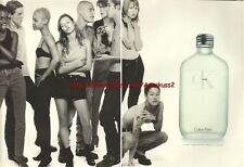 Calvin Klein CK One Fragrance 1995 Magazine Advert #798