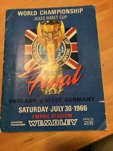 World Cup Championship Program 1966 England v West Germany