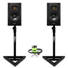 "Adam Audio T5V Active 5"" DJ Studio Monitor Speaker (PAIR) with Stands + Cable"