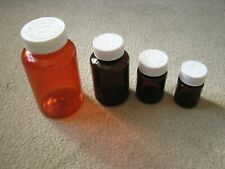 Pet Plastic 300,150,50,35ml Pill Bottles SafetyCap Storage Container Bottle 1-25