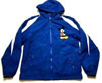 Mickey Mouse Disney Sport Tek Mens Blue Zip Up Windbreaker Jacket Size Small