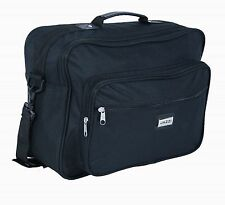 Men's Black Multi-Purpose Shoulder Bag Holdall Work Travel Flight Cabin Bag