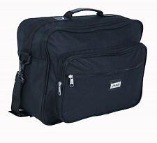 Men's Black Multi-Purpose Shoulder Bag Holdall Work Travel Flight Cabin Bag