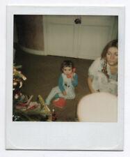 PHOTO ANCIENNE Enfant Jouet Téléphone Phone Polaroïd Vers 1980 Pyjama Noël