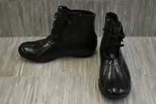 Sperry Saltwater Flooded STS82032 Rain Boot, Women's Size 9.5, Black