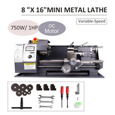 "750W 8""x16"" Automatic Mini Metal Lathe Variable-Speed Dc Motor Cutting 2500Rpm"