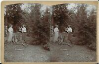 Ottomar & Amelia Jarecki 1880s Stereoview Photo Erie PA  Area  4 1/2 x 7
