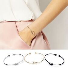 Fashion Elegant Women Alloy Knot Bracelet Bangle Chain Jewelry Gifts Adjustable#