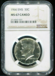 1966 Kennedy Half Dollar SMS NGC MS 67 CAMEO Mint State 67