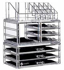 Beautify Extra Large 6 Tier Clear Acrylic Cosmetic Makeup Cube Organizer Storage