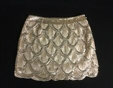Blonde Sequin Gold Mini Skirt Size M 10